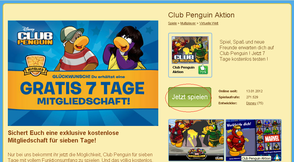 Club Penguin Spielen